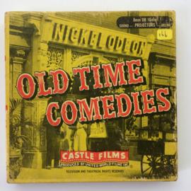 Nr.1598 --Dubbel 8-- Old Time Commedies Castle film B40 Railroad Stowaways, Billy Bivan 60 meter zwsilent in orginele doos 60 meter