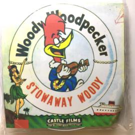 Nr.16344-- 16 mm -- Castle film, Woody Wood Pecker Stowaway Woody kleur, Engels gesproken, iets aan de rode kant maar nog prima te draaien lengte ongeveer 120 meter orginele Castle film, compleet met begin/end titels