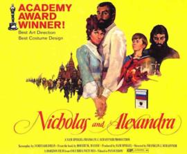 Nr.2118 --16mm--  Nicholas and Alexandra (1971) biografie / drama, speelduur 189 minuten, mooi van kleur en Engels gesproken, compleet met begin/end titels, op 4 spoelen en in doos