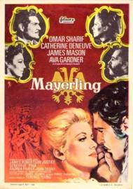 Nr.2116 --16mm--  Mayerling (1968) met Omar Sharif, Catherine Deneuve Drama / Romantiek, speelduur 140 minuten redelijk van kleur en Engels gesproken, compleet met begin/end titels op 3 spoelen en in doos