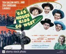 Nr.2135 - 16mm -- Gas House Kids Go West (1947) Zwartwit Engels gesproken met Nederlandse ondertitels compleet met begin en end titels speelduur 62 minuten