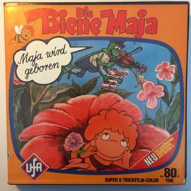 Nr.6635--Super 8 Sound, Maya wordt geboren, tekenfilm kleur duits gesproken,  90 meter in orginele fabrieks doos