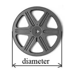 SUPER 8  losse spoel voor super 8 film projectoren, diameter 12,8 cm. is ongeveer 50 meter film is o.a. geschikt voor o.a. de Reflecta filmscanners