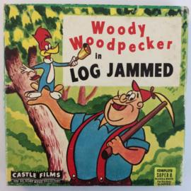 D335 --Super 8-- Woody Wood Pecker Log Jammed, zwartwit silent 60 meter in orginele fabrieks doos bestellen klik op foto