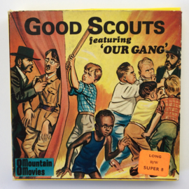 Nr.743 --Super 8-- Good Scouts, Our Gang, 60m. zwartwit silent in orginele doos