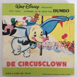 Nr.6698 -- Super 8 SOUND -- De avonturen van Dumbo, de circusclown, Walt Disney 45 meter mooi van kleur Nederlands gesproken  geluid in orginele doos
