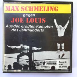 Nr.7040 --Super 8 Silent - Castle film  Max Schmeling tegen Joe Louis juni 1936, goede kwaliteit zwartwit Silent ca 60 meter  in orginele doos