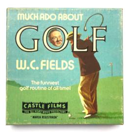 Nr.7217 --Super 8 silent W.C. Field Golf, ongeveer 60 meter zwartwit silent op spoel en in orginele doos