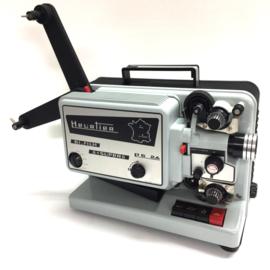 Nr.8227 --prachtige Heurtier 240 Bi-filmprojector,voor Dubbel en Super 8 films met halogeen lamp: 12V-100 W, uitklapbare spoel armen voor 240 spoelen, projectie snelheid 6, 18, 24 fps, heeft service beurt gehad en is in nieuw staat