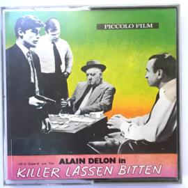 Nr.7009 --Super 8 sound --Alain Delon Killer Lassen Bitten ca 120 meter zwartwit met Duis geluid, redelijke tot goede  copy in orginele doos