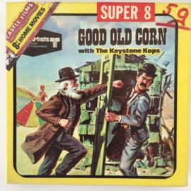Nr.7026 --Super 8 Silent - Castle film  Keystone Kops Good Old CORN, goede kwaliteit zwartwit Silent ca 60 meter  in orginele doos