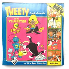 Nr.6863 --Super 8 sound-- Trap Happy, Tweety,  Silvester Daffy Duck, 120 meter kleur met Engels geluid in doos