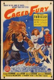 Nr. H6012 --Super 8 Sound,Circus of Fear,  Caged Fury (1948) met Richard Denning en Buster Crabbe, bestaat uit 3 delen speelduur 60 minuten zwartwit met Engels geluid