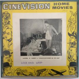 Nr.759 --Super 8 , Laurel en Hardy Love And Weep, 120 meter zwartwit  orgineel silent 1929 in orginele Walton doos