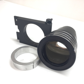 Mooie 16mm cinemascoop lens, mooi helder scherp vanaf 3 meter, incl.houder en verloop ring, merk onbekend