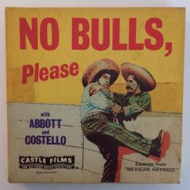 D322 --Super 8-- No Bulls Please Abbott & Costello, zwartwit silent 60 meter in orginele fabrieks doos