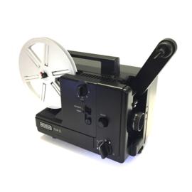 Nr.8119 -- Eumig, 614 D zwarte uitvoering voor standard 8 mm super 8 mm film,lamp: 12V 100W GZ6,35 EFP, projectiesnelheid: 6, 9, 18 fps, zoomlens heeft service beurt gehad en is in perfecte staat