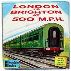 Nr.6801 -- Super 8 Sound -- zwartwit met GELUID London to Brighton 500 MPH 8mm film British Railways A Mountain Home Movie