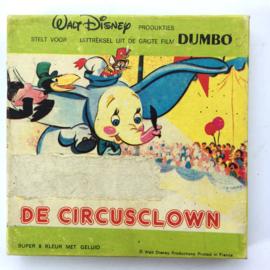 Nr.7270 --Super 8 sound--Dumbo de circusclown, ongeveer 50 meter kleur met Nederlands geluid op spoel en in orginele doos