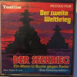 Nr.6824 --Super 8--  Der Seekrieg Ein-Mann-U-Boote gegen Radar, oorlogsdocumentatie 60 meter zwartwit met GELUID in orginele fabrieks doos