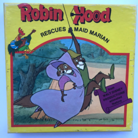 Nr.7187 Super 8 sound -- Robin Hood, Walt Disney iets rood van kleur Engels geluid, ongeveer 50 meter op spoel en in orginele doos