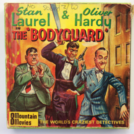 Nr.747--Super 8-- Laurel en Hardy The Bodyguard, 60 m. zwartwit silent in orginele doos