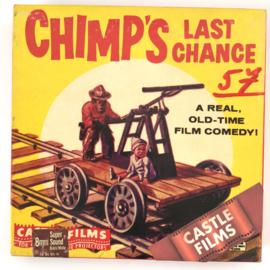 Nr.7022 --Super 8 Silent - Castle film  Chimp's Last Chance, goede kwaliteit zwartwit Silent ca 60 meter  in orginele doos