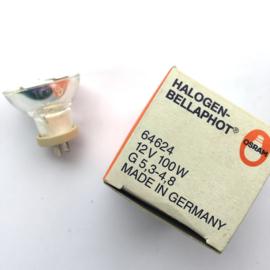 Nr. R223 Speciale kleine Osram halogeen projectielamp 12v-100w G5,3 -4,8 kleine spiegel 3,4 cm