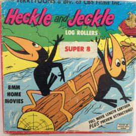 Nr.6721 - Super 8 , Heckle and Jeckle Log Rollers zwartwit Silent in orginele fabrieks doos