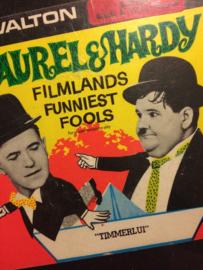 Nr.6527 --Super 8 sound Laurel en Hardy in Timmerlui zwartwit Engels gesproken, speelduur 20 minuten in orginele doos