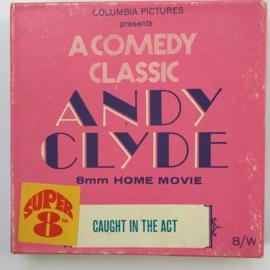 Nr.7284 --Super 8 silent-- Andy Clyde Caught in the Act op 50 meter spoel zwartwit silent  op spoel en in orginele doos