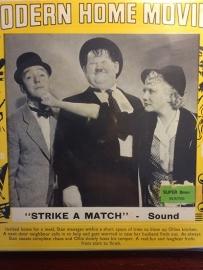 Nr.6526 -- Super 8 sound Laurel & Hardy, Stike a Match 120 meter zwartwit met Engels geluid in orginele doos