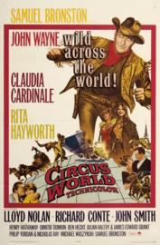 Nr.2155 --16mm-- Circus World (1964) een klasieker met  John Wayne, Claudia Cardinale,speelduur 135 minuten,  kleur Engels gesproken met Nederlandse ondertitels, compleet met begin/end titels op 3 spoelen en in doos