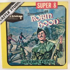 Nr.7025 --Super 8 Silent - Castle film  Adventure of Robin Hood, goede kwaliteit zwartwit Silent ca 60 meter  in orginele doos