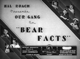Nr.16428 --16mm-- Bear Facts,  Our Gang short comedy film 1938 zwartwit met Engels geluid speelduur 11 minuten, begin/end titels op spoel en in doos