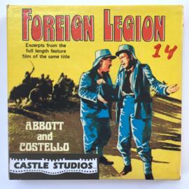 Nr.7041 --Super 8 Silent - Castle film Foreign Legion Abbott & Costello, goede kwaliteit zwartwit Silent ca 60 meter  in orginele doos