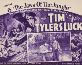 Nr.16279 --16mm  -- Een zeldzame aflevering uit 1937 ,,Chapter 6. The Jaws of the Jungle,, Tim Tyler's Luck (1937)zwartwit, Engels gesproken, met begin en end tite voor de liefhebbers van old time movie's, zeldzaam