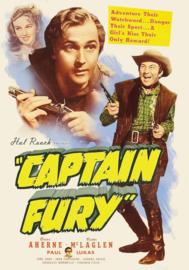 Nr.2125 --16mm-- Hal Roach present Captain Fury (1939) een klassieker, speelduur 1uur en 32min   Action, Adventure, (USA) orgineel zwartwit, Engels gesproken met Ned.ondertitels, compleet met begin/end titels op spoel en in doos