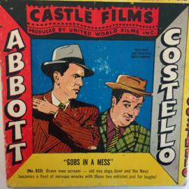 Nr.1509 --Dubbel 8 Silent-- Gobs in a mess Abbott & Costello,  60 meter zwartwit silent, zit in de orginele fabrieks doos