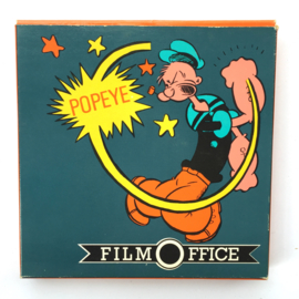 Nr.6943 --Super 8 Sound-- Popeye als professor Cartoon, 60 meter mooi van kleur met Engels geluid, in de orginele doos