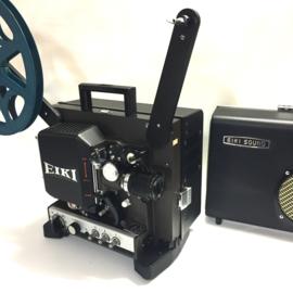Nr.8134 -16mm-prachtige Eiki NT-2 met halogeenlamp: ELC 24V 250W.,  versterker 20Watt, optisch/magnetisch geluid, basislens/zoom converter voor extra groot beeld, spiekerkap, heeft service beurt gehad en is in perfecte staat.