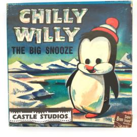 Nr.7020 --Super 8 sound- Castle film  Chilly Willy The Big Snooze goede kwaliteit zwartwit met Engels geluid ca 60 meter  in orginele doos