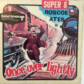 Nr.6766 --Super 8 Silent, Once over Lightly, Roscoe Ates,, 60 meter zwartwit Silent in orginele doos