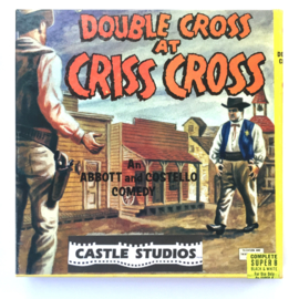 Nr.7072 --Super 8 Silent - Castle filmDouble Cross at Criss Cross, goede kwaliteit zwartwit Silent ca 60 meter  in orginele doos