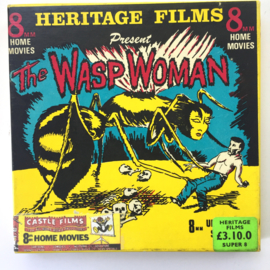Nr.7053 --Super 8 Silent - Castle film The Wasp Woman, goede kwaliteit zwartwit Silent ca 60 meter  in orginele doos