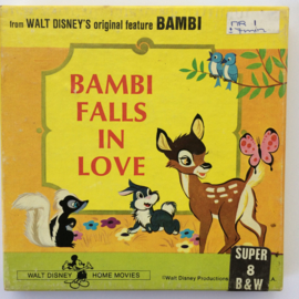 Nr.6669 --Super 8 -- Bambi Fall in Love Walt-Disney, 45m.zwartwi silent in orginele doos