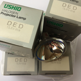Nr. R109/2 -- USIO Halogeen projectorlamp DED 13,8 volt - 85W.