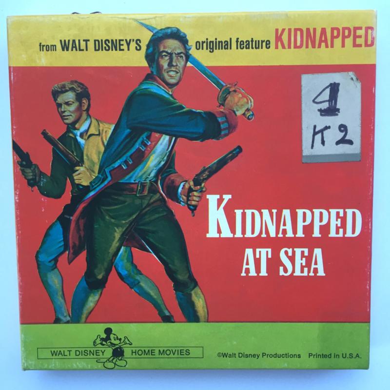 Nr.7195 Super 8 Kidnappes at Sea, Walt Disney zwartwit silent  ongeveer 50 meter op spoel en in orginele doos