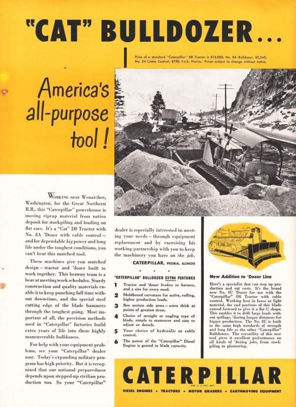 Nr.16286 --16mm-- Material on the Move prachtige documentaire uit 1957 van Caterpillar zware machine's mooi zwartwit en Engels gesproken speelduur 20 minuten, compleet op spoel en in doos