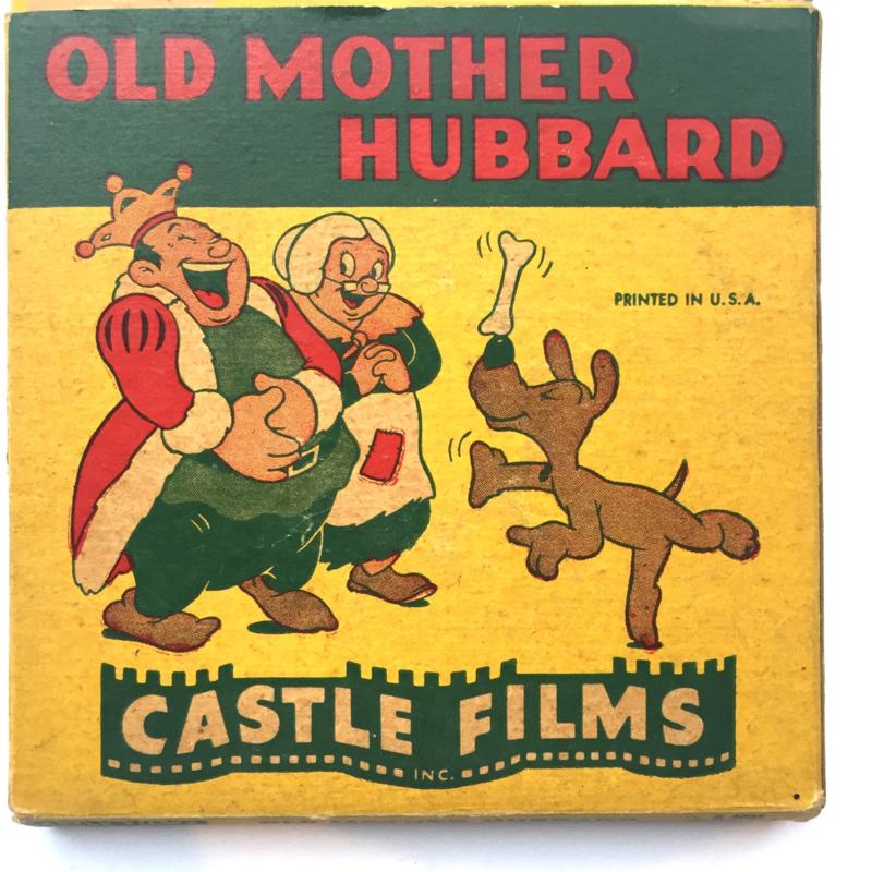 Nr.1607 --Dubbel 8 Silent-- Castle films, Old Mother Hubbard 60 meter zwartwit in orginele doos